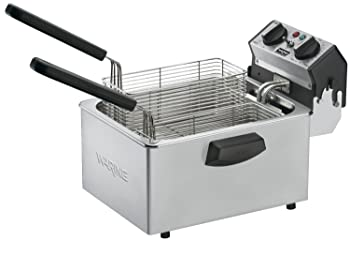 Waring Commercial WDF75RC 120-volt Countertop Compact Electric Deep Fryer