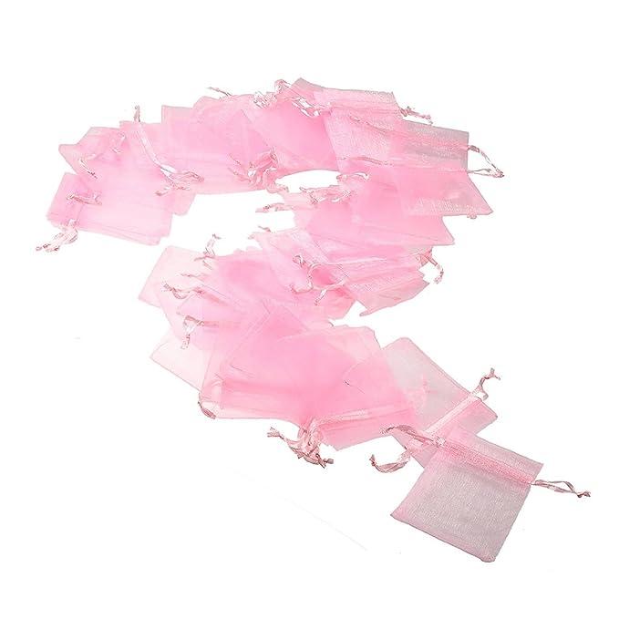 150 opinioni per JZK 50 x Rosa 7x9 cm sacchetti coulisse organza sacchettini portariso