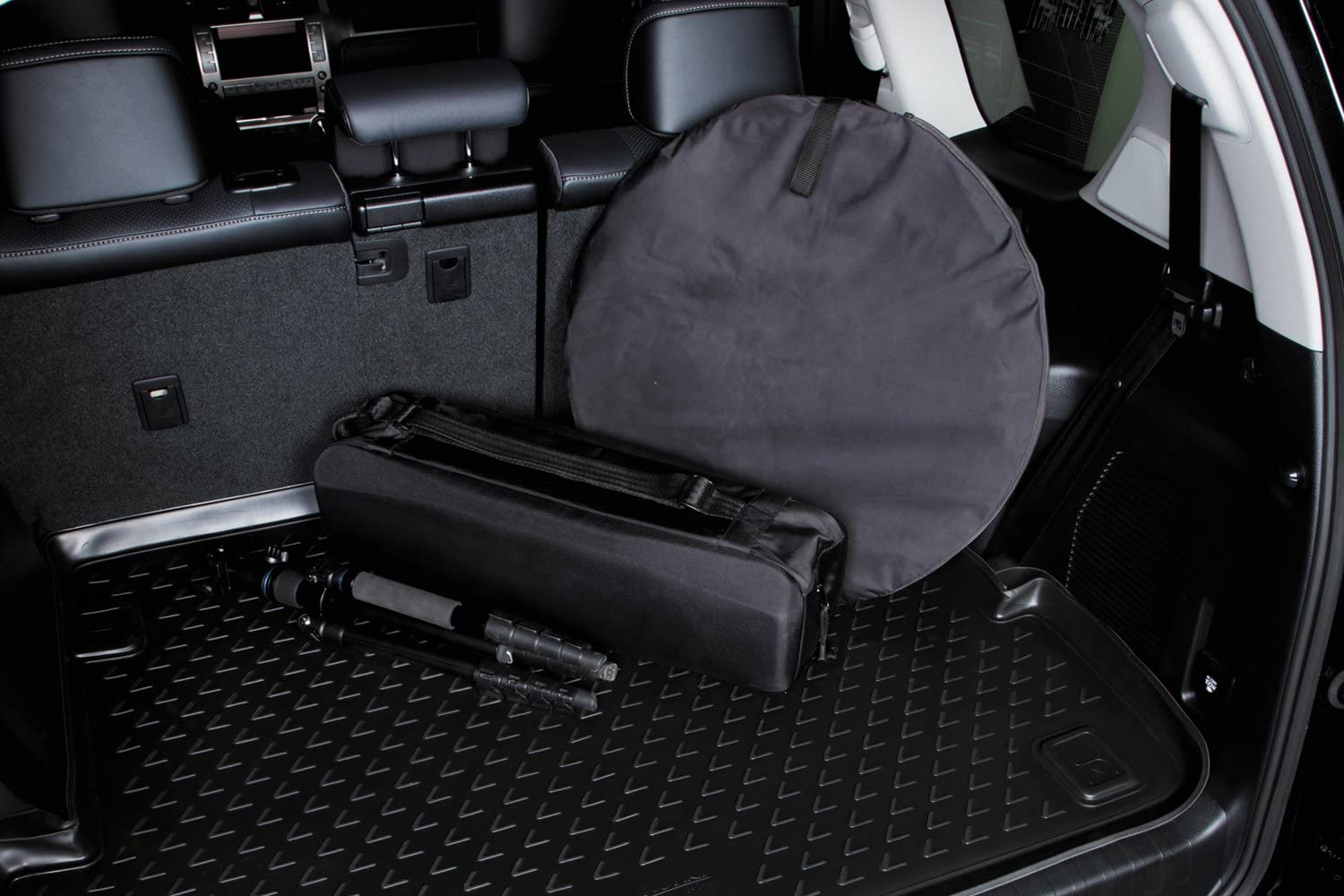 Black R5 AUTOMOTIVE Fits 2019-2021 Hyundai Santa Fe Custom Fit Cargo Liner Trunk Floor Mat for 5 Passenger Models All Weather