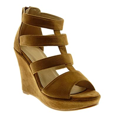 Sandale Mule Peep Angkorly Plateforme Toe Mode Chaussure Spartiates tqxxH1Ep