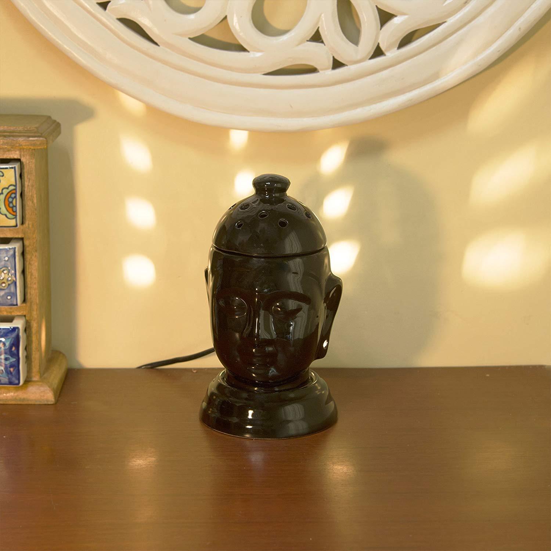 Home Sake Ceramic Black Buddha Electric Diffuser |Home Decor