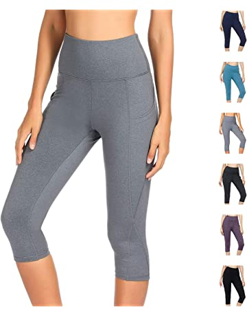 d909dc0782 WateLves Women s High Waist Workout Shorts Stretch Yoga Running Shorts Pants  Tummy Control with Side Pockets