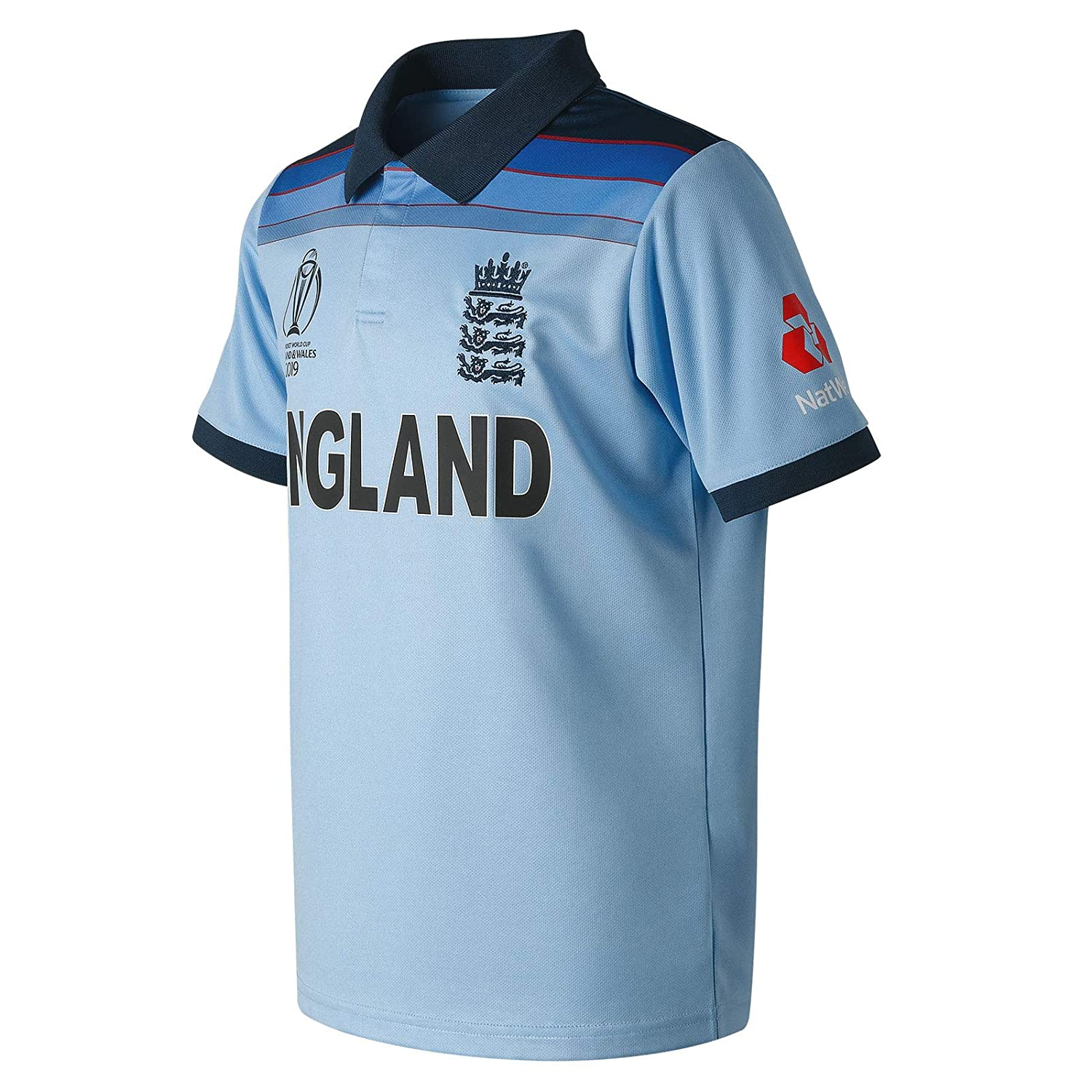 New Balance ECB Replica WC19 ODI Junior Short Sleeve Polo Camiseta ...