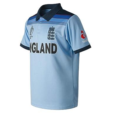 New Balance ECB Replica WC19 ODI Junior Short Sleeve Polo Camiseta ...