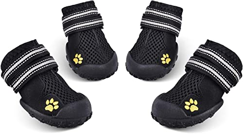 HiPaw-Summer-Breathable-Dog-Boot-Reflective-Strap-Rugged-Nonslip-Sole-for-Hot-Pavement