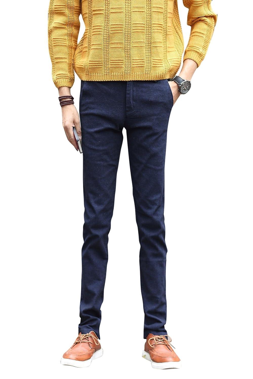 Menschwear Men's Stretch Casual Trousers Staight Legs (31, Blue)
