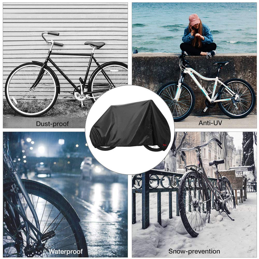 HIGGER 1Set 210D Oxford Bike Cover UV Dust Sun Wind Cover Outdoor Impermeable Bicicleta Cubierta para Bicicletas de Carretera de monta/ña