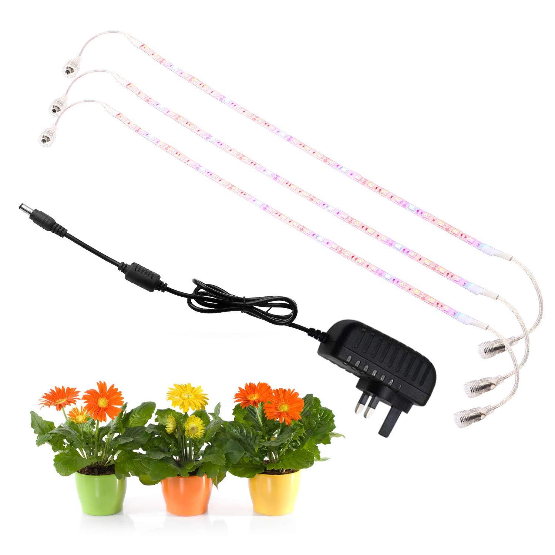 guaiboshi Plant Lights LED Grow Light, 4pcs 1.64ft Red Blue 5:1 Light Strip Full Spectrum for Greenhouse Hydroponic Plants