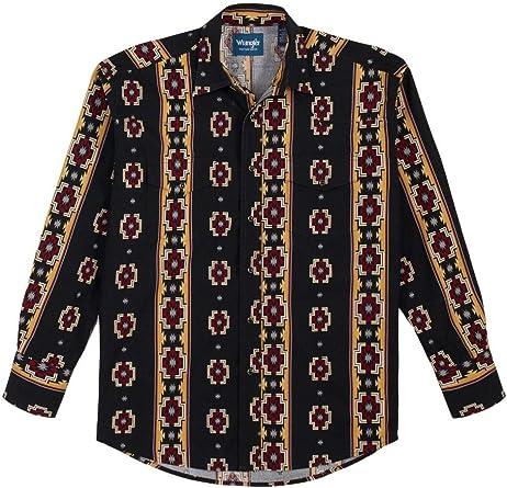 Wrangler Western Checotah Aztec Print Long Sleeve Snap Shirt ...