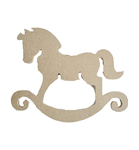Cavallo A Dondolo Design.Rico Design Legno Ornamento Cavallo A Dondolo In Mdf Amazon It