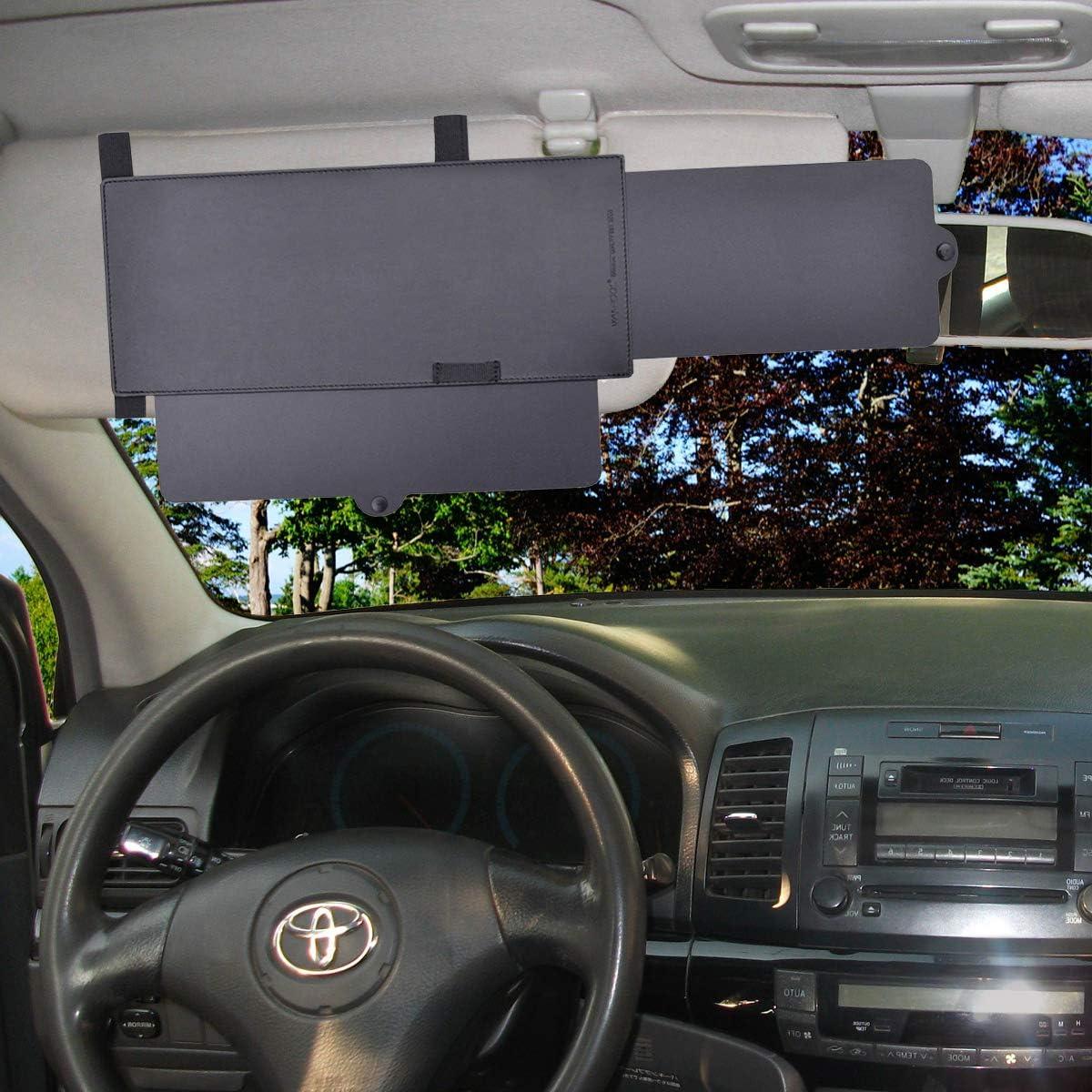 Window Sun Shade Extendable Visor VaygWay Car Visor Sunshade Extender Windshield Auto Sun Visor Extender Extendable Car Visor Anti Glare Universal Car SUV Sun Shade