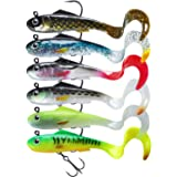 TRUSCEND Fishing Lures for Bass, Soft Swimbaits with Pre-Rigged Ultra-Sharp BKK or VMC Hooks, Japan Formula, Fishing Gear for