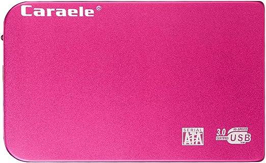 MERIGLARE データストレージ用ポータブル外付けHDD耐衝撃USB 3.0 2.5インチSATAハードドライブ - 赤1TB