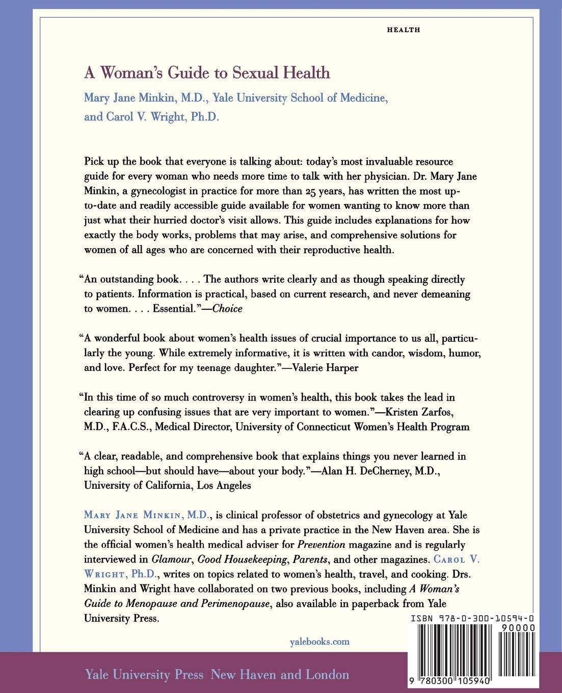 A Woman's Guide to Sexual Health (Yale University Press Health