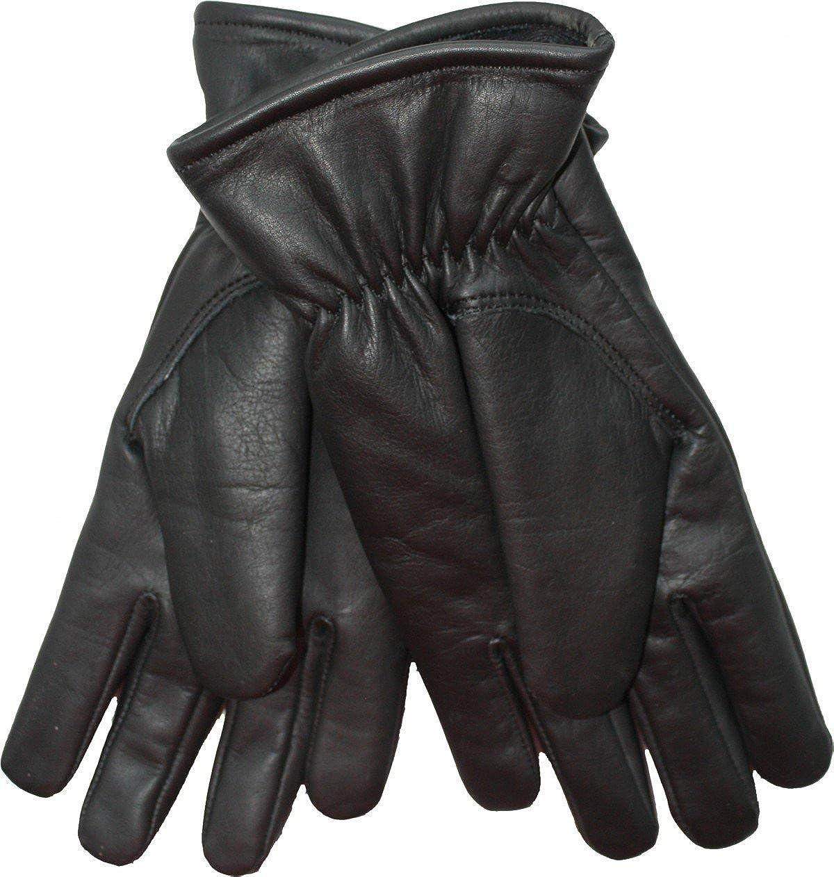 German Wear Damen Lammnappa Lederhandschuhe Handschuhe echtleder Lamm-Nappaleder schwarz