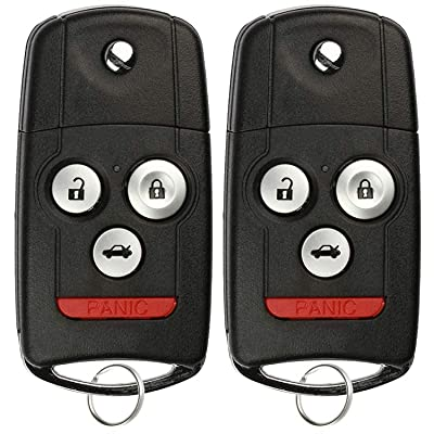 KeylessOption Keyless Entry Remote Fob Ignition Car Flip Key for Acura MDX, RDX 2007-2013 (Pack of 2): Automotive