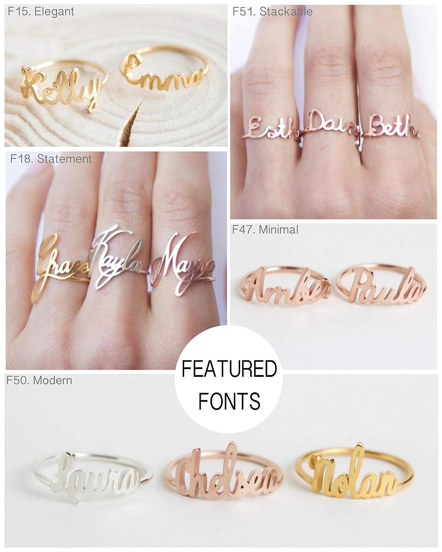 Custom name ring \u2022 date ring \u2022 rings for her \u2022 wedding gift  \u2022 gift for family \u2022 100/% original \u2022 gift for mother \u2022 personalized jewellery
