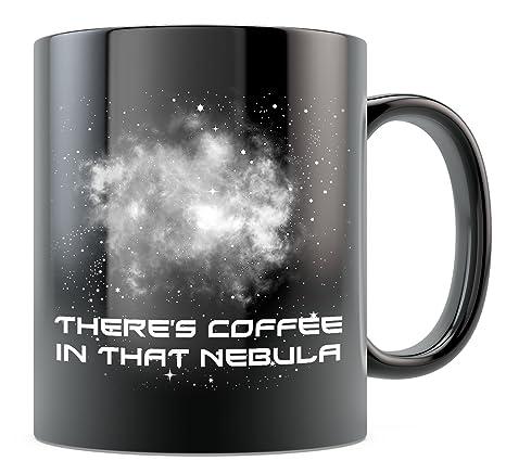 5fc2bd84ba5 Amazon.com: Trek Mug - There's Coffee in That Nebula - Black 15oz Ceramic:  Kitchen & Dining