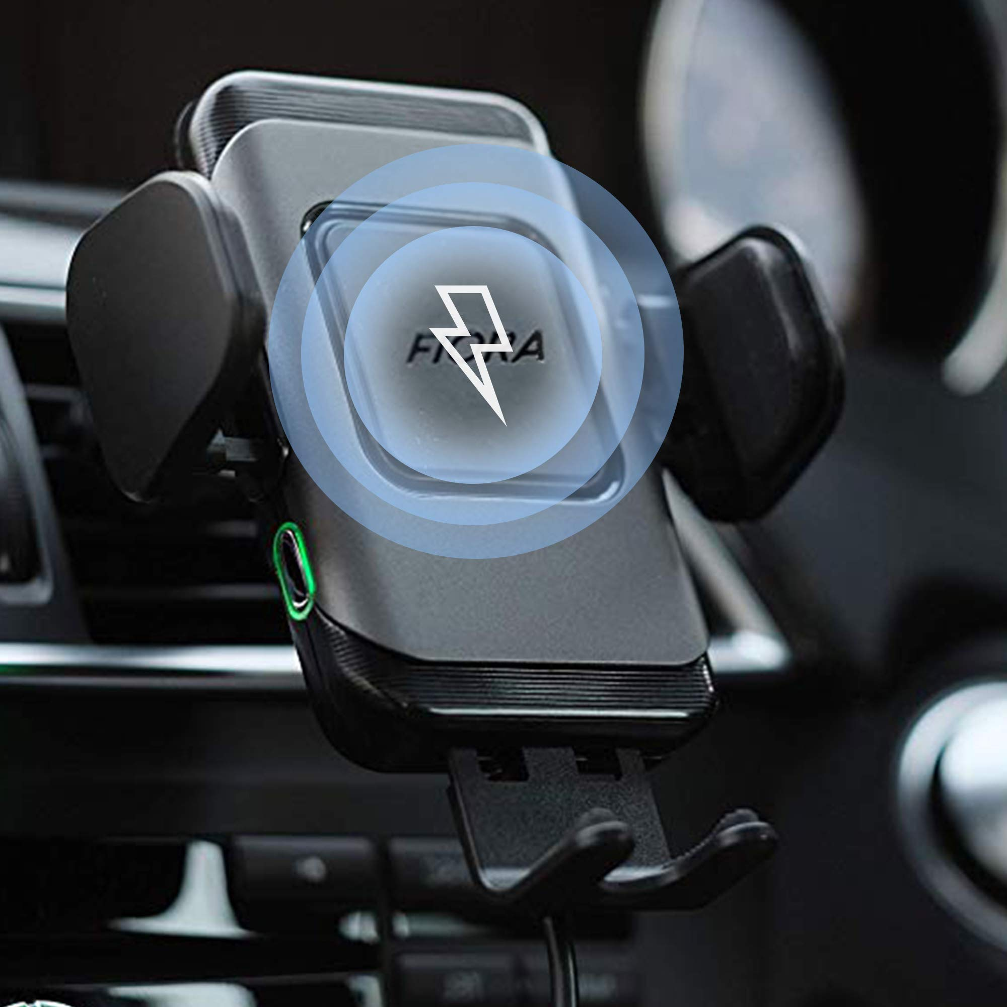 Ultimate Wireless Car Charger by Fiora 15W Qi Wireless Fast Charge QC 3.0 Adapter Automatic Clamping Phone Mount Holder Compatible iPhone Xs Max/XS/XR/X/8/8 Plus, Samsung Galaxy Note 9/S10/S9/S8, LG by FIORA