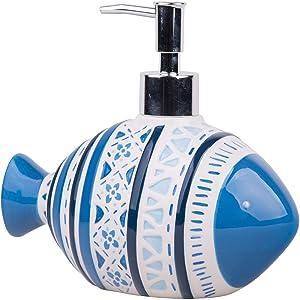 Home Essentials Global Tides Fish Soap Dispenser, 19 Oz