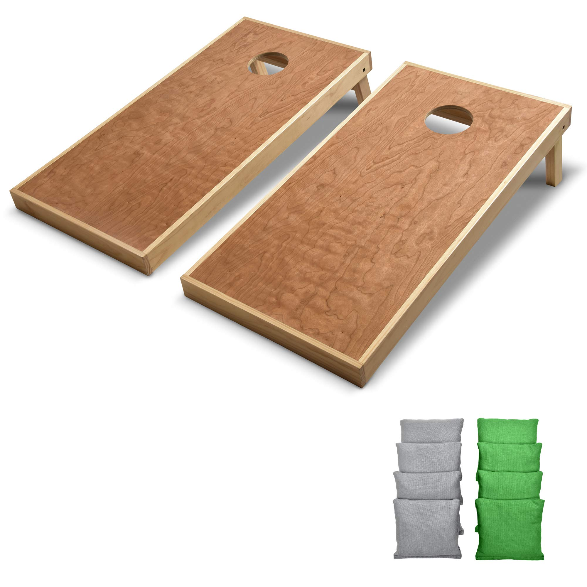 GoSports 4' x 2' Commercial Grade Cornhole Boards Set | Includes Bean Bags (Choose Your Colors) Over 100 Color Combinations by GoSports