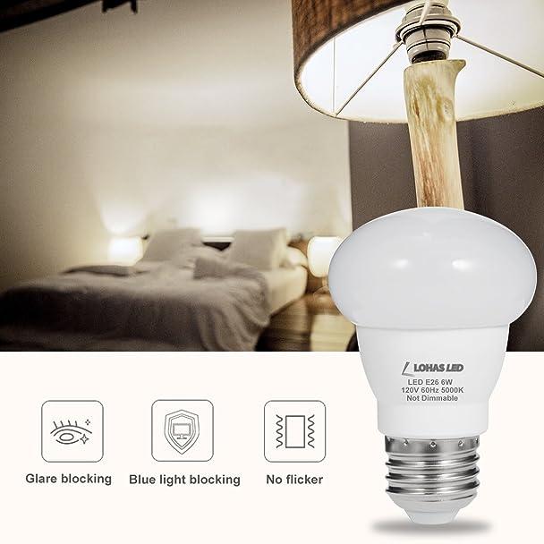 Lohas Led Light Bulbs 45watt Equivalent 6w Par16 Cloud Style Daylight 5000k E26 Base 500lm For Home Lighting Vanity Lights Non Dimmable 4
