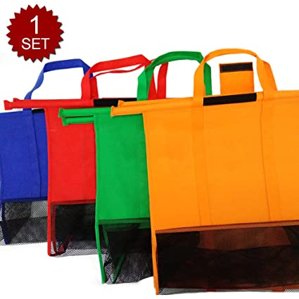 Aspire Set de 4 Bolsas de supermercado Carrito de la Compra ...
