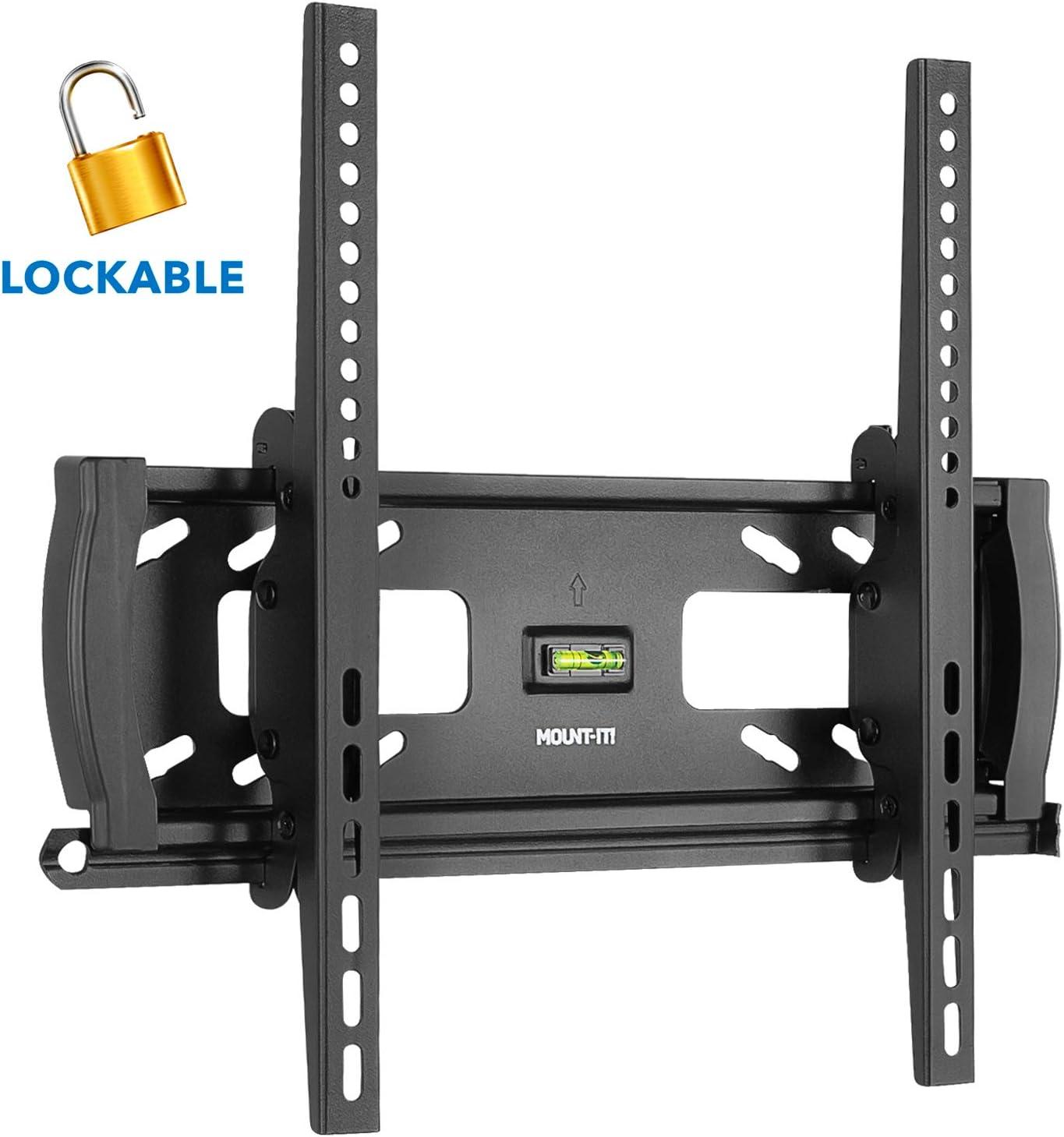 "B00LOU0CU8 Mount-It! Lockable Anti Theft Tilt TV Wall Mount, Locking Bar Security Wall Mount fits 32"" to 55"" Flat Screen LCD LED Plasma TVs, up to 99 lbs (MI-2244T) 71S14nV6yaL"