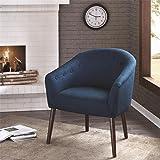 Amazon Com Aqua Blue Retro Upholstered Fabric Mid Century