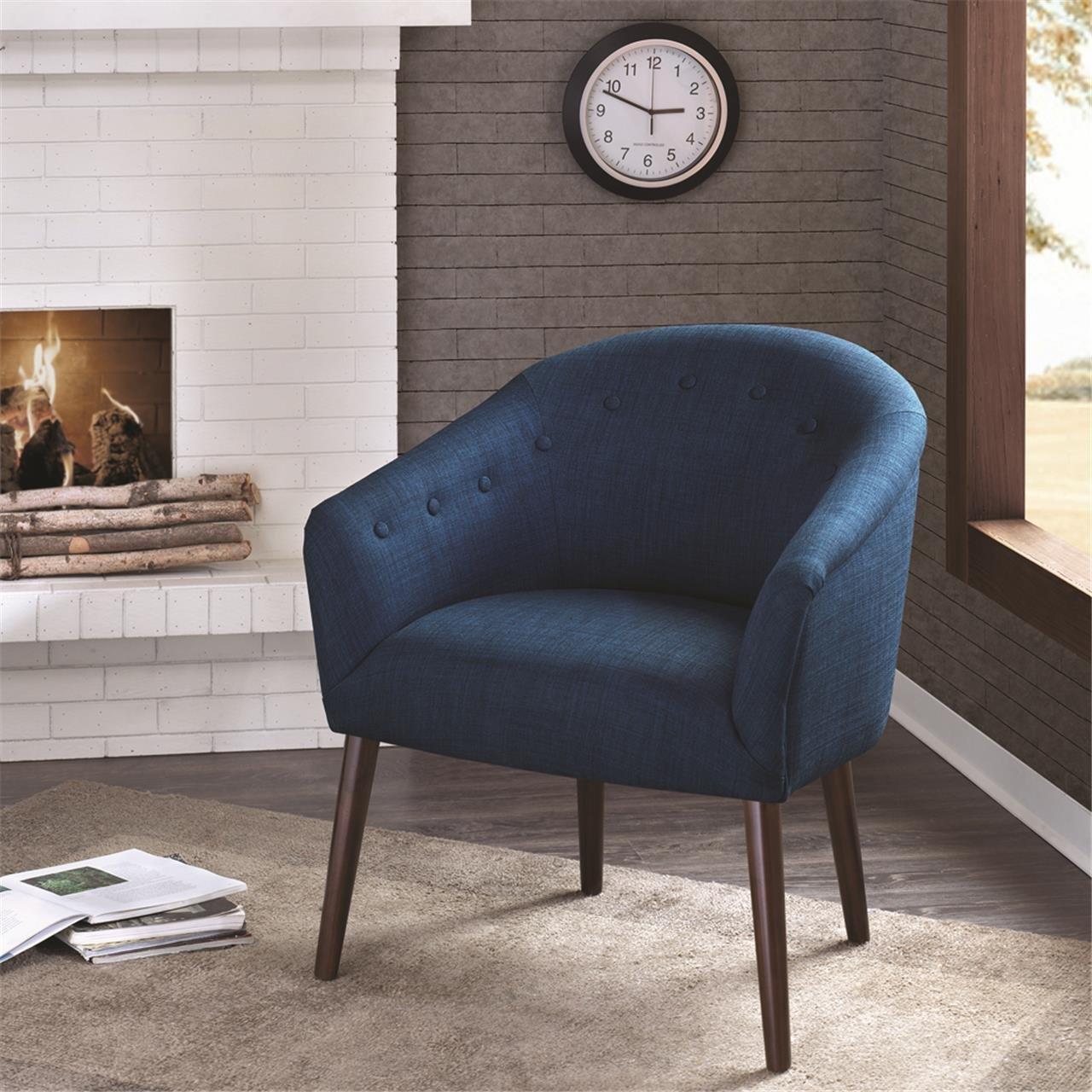 Amazon.com: Madison Park Camilla Chair, 27 X 26.5 X 29.5, Navy: Kitchen U0026  Dining