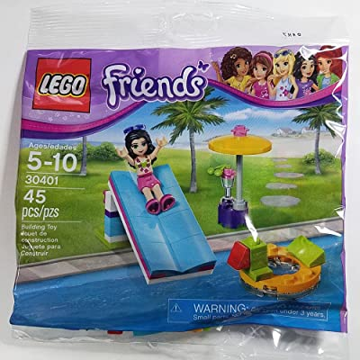 LEGO Friends Pool Foam Slide Mini Set #30401 [Bagged]: Toys & Games