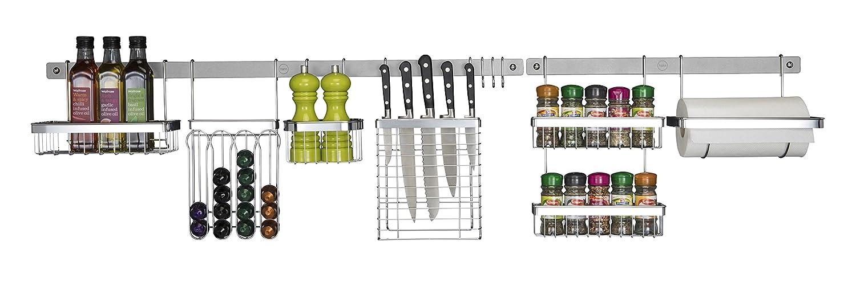 Metro Platinum Steel Grey 51 wall utensil rail