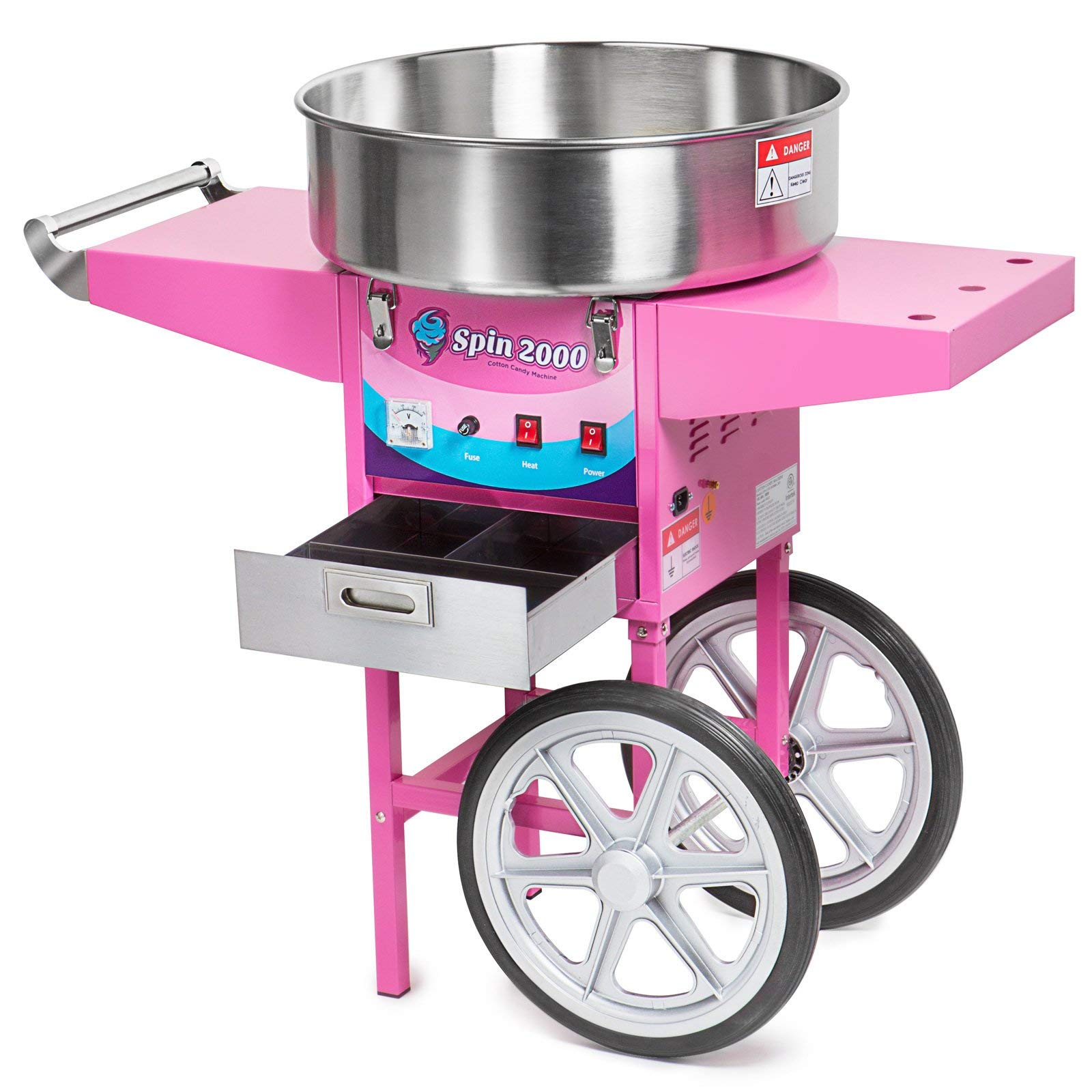 Olde Midway Commercial Quality Cotton Candy Machine Cart and Electric Candy Floss Maker - SPIN 2000 (Renewed) by Olde Midway (Image #4)