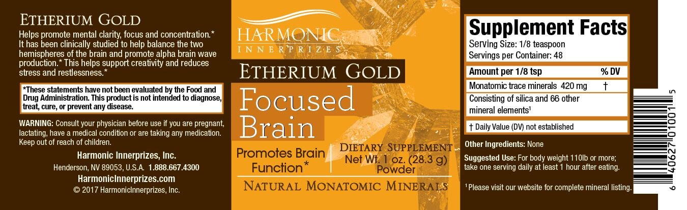 Harmonic Innerprizes Etherium Gold 1oz Powder