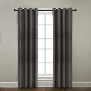 product image for Veratex Contemporary Style 100% Linen Construction Made In The USA Living Room Grommet Window Panel Curtain, Java, 108""