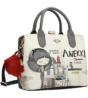 Anekke Egypt - Bolso de mano con cierre en tonos de tierra ...
