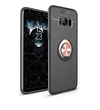 f1bf21d1742 Anfire Funda para Samsung Galaxy S8 Plus, Carcasa Anillo de Soporte  Rotación de 360 Grados