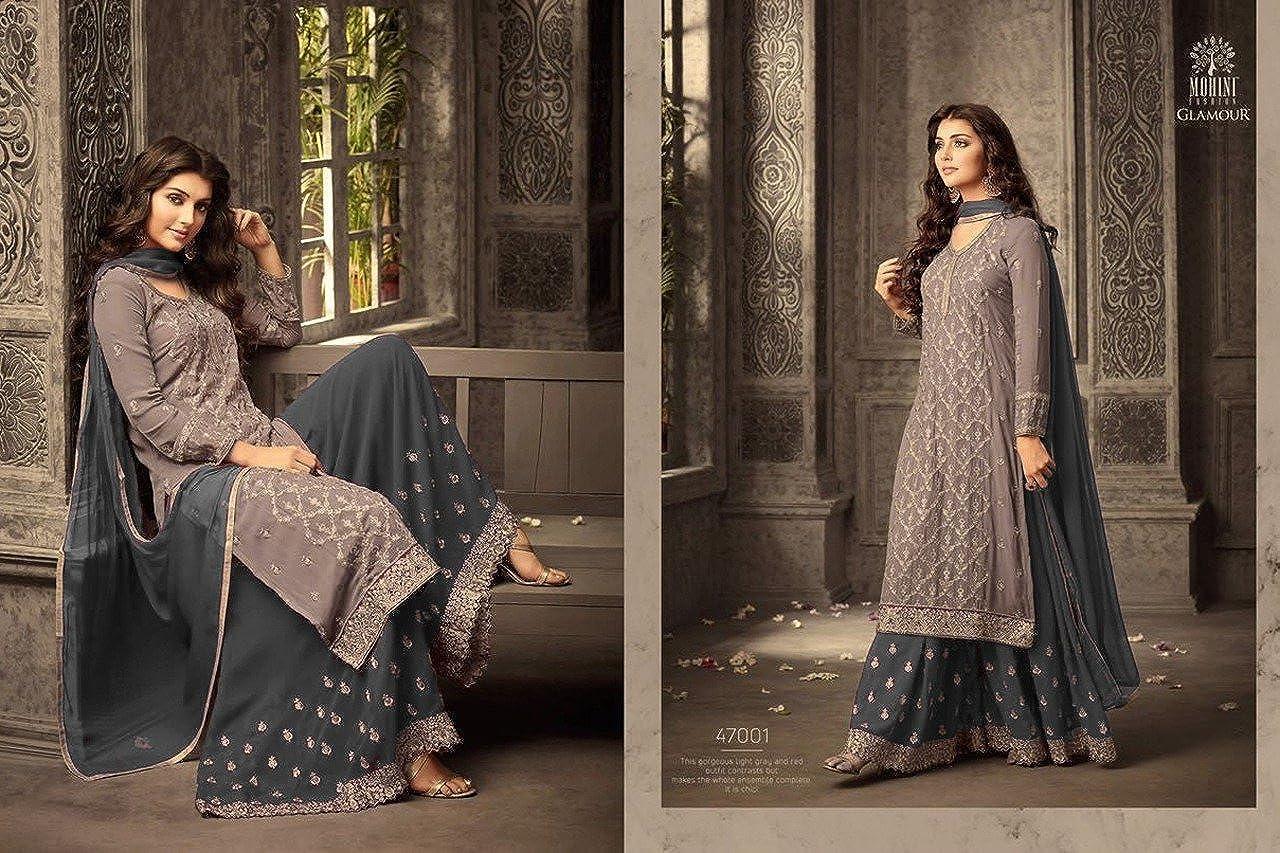 Ready Made Designer Indian//Pakistani Ethnic wear Georgette Plaazo Salwar kameez plus size 47001