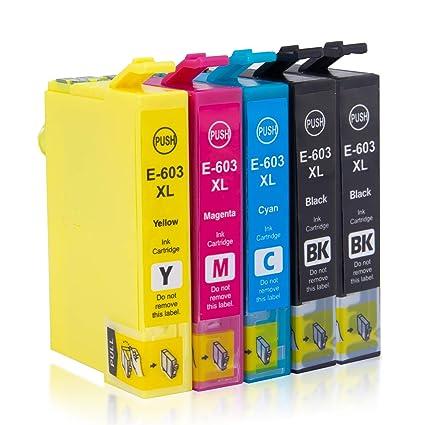 5x Labelwell 603XL Cartuchos Tinta Compatible para Epson 603 XL Epson603XL para Epson Expression Home XP-2100 XP-2105 XP-3100 XP-3105 XP-4100 XP-4105 ...