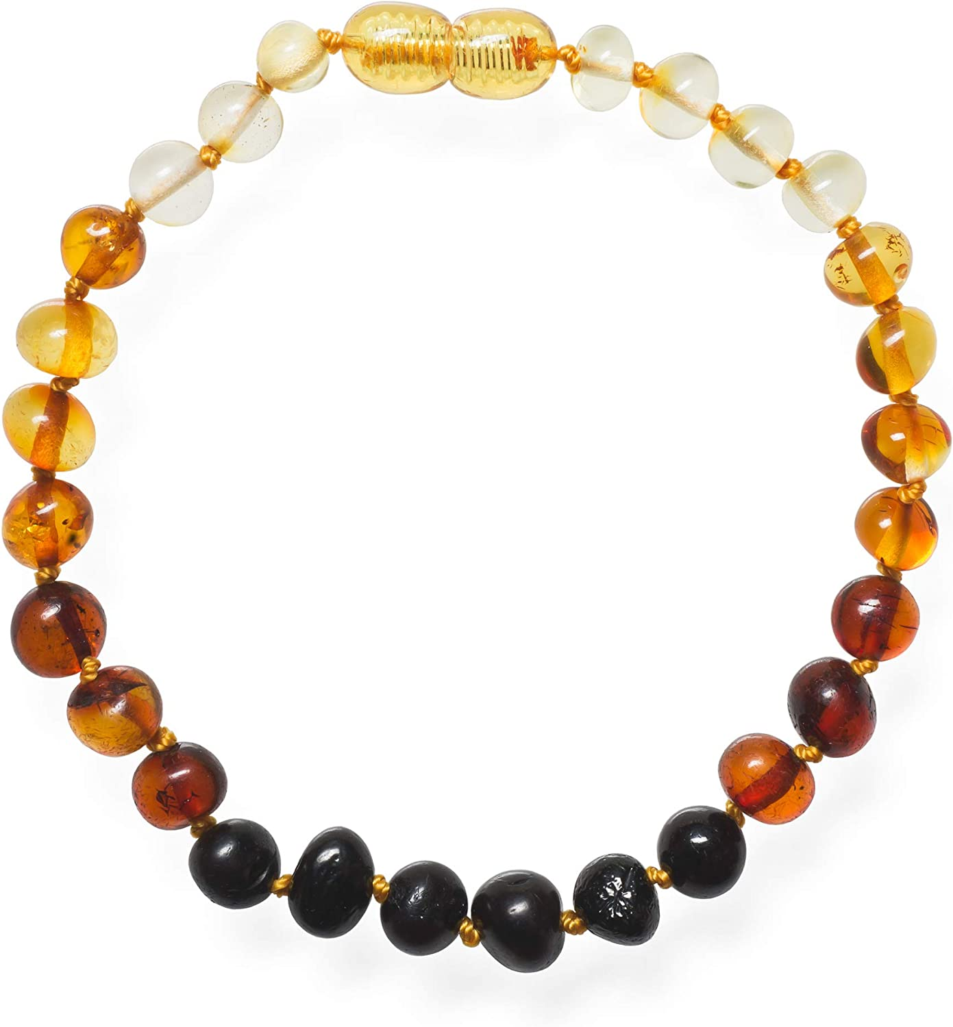 Arthritis and More All Natural Pain Relief for Adults to Help Migraines Meraki Adult Amber Bracelet Rainbow Color Sinuses Polished Baroque Baltic Amber Bracelet 8 Inches