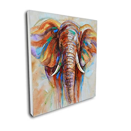 Great Crescent Art Original Design Modern Abstract Elephant Wall Art, Oil  Painting On Canvas Print Wall