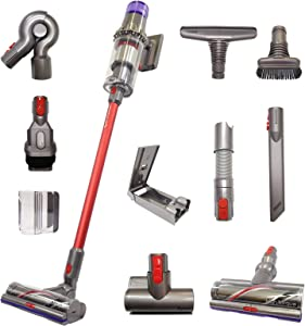 Dyson V11 Animal+ Cordless Red Wand Stick Vacuum Cleaner with 10 Tools Including High Torque Cleaner Head | Rechargeable, Cord-Free, Lightweight, Powerful Suction | Limited Red Edition