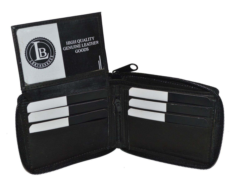 Ziparound Flip Up Id Most Popular Secured Wallet Black