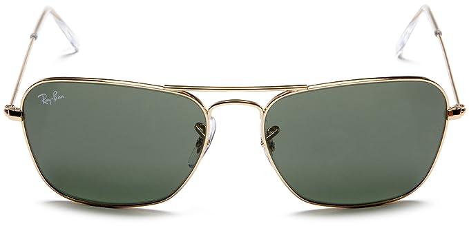 b995a67a6d Amazon.com  Ray-Ban CARAVAN - ARISTA Frame CRYSTAL GREEN Lenses 58mm  Non-Polarized  Ray-Ban  Clothing