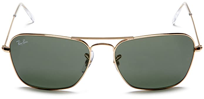 cf2530837f Amazon.com  Ray-Ban CARAVAN - ARISTA Frame CRYSTAL GREEN Lenses 58mm  Non-Polarized  Ray-Ban  Clothing