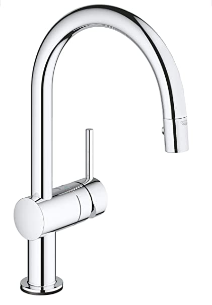 Grohe 31358001 Minta Touch Kitchen Tap C Spout Pull Down Shower