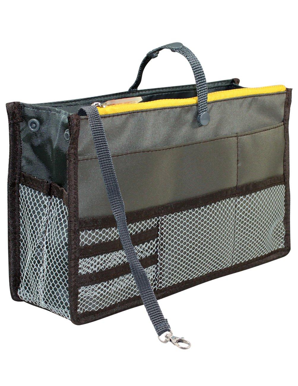 Dahlia Women Patented Handbag Purse Organizer Insert - Version 2 Tidy Gray