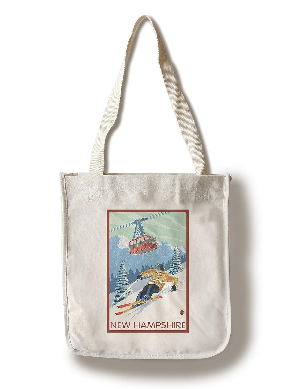 スーパーセール期間限定 New Hampshire – Skier Canvas and Tram New Canvas – Tote Bag LANT-33029-TT B01841GUXC Canvas Tote Bag, everyday:e2e6d933 --- arianechie.dominiotemporario.com