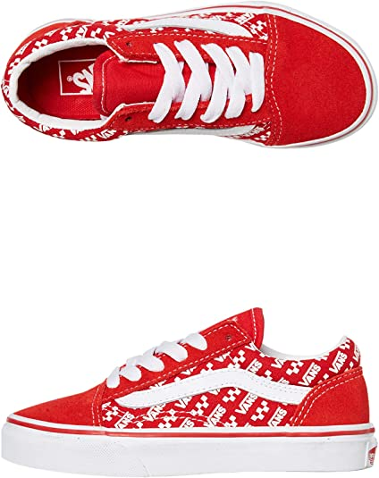 Vans Old Skool Trainers Child Red/White