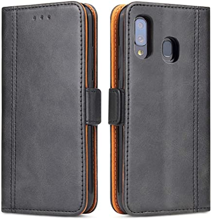 Bozon Galaxy A40 Hülle Leder Tasche Handyhülle Für Elektronik